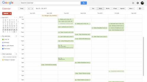 My Interview Calendar